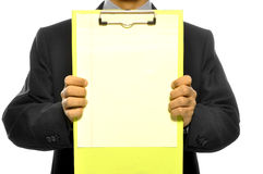 Holding Clipboard Stock Photography