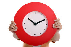 Holding Clock stock images
