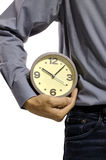 Holding Clock Royalty Free Stock Photo