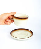Holding the coffee cup Royalty Free Stock Image