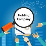 Holding Company Types of business corporation organization entity. Vector royalty free illustration