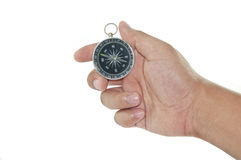 Holding an Compass Stock Images