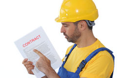 Holding a contract Stock Photos