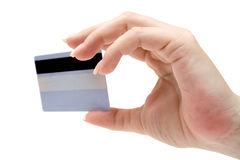 Holding a Credit Card Royalty Free Stock Photo