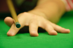 Holding the cue Stock Images