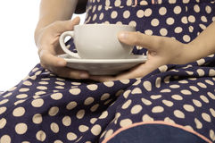 Holding Cup Of Coffee Stock Image
