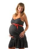 Holding der schwangeren Frau ihr Bauch Lizenzfreie Stockfotografie