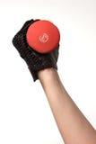 Holding di braccio un un peso dalle tre libbre Fotografia Stock Libera da Diritti