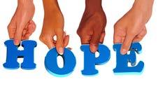 Holding di speranza Fotografie Stock Libere da Diritti