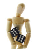 Holding the dice Royalty Free Stock Photos