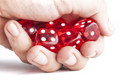 Holding Dices Stock Photography