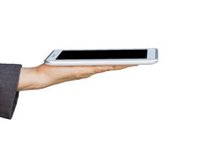 Holding digital tablet pc Stock Image