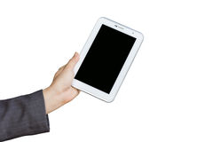 Holding digital tablet pc Royalty Free Stock Image