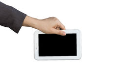 Holding digital tablet pc Royalty Free Stock Images