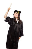 Holding the diploma Royalty Free Stock Photography