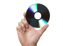Holding a disk Stock Photography