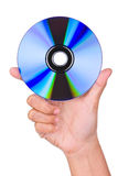 Holding Disk Royalty Free Stock Photography