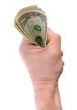 Holding Dollar Bills Royalty Free Stock Photos