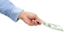 Holding dollar Royalty Free Stock Images