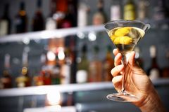 Holding drink in hand Stock Photography