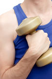 Holding  a dumbell Stock Photos