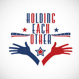 Holding each other hands Royalty Free Stock Images