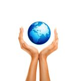 Holding the earth 2 Royalty Free Stock Photo