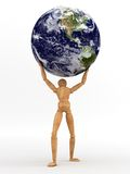 Holding Earth. (Maps used from NASA royalty free illustration