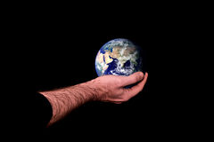 Holding the earth Stock Photos