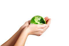 Holding the Earth America Stock Photos