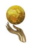 Holding earth globe Royalty Free Stock Photo