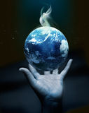 Holding earth on hand - Original image from NASA Royalty Free Stock Photography