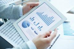 Holding electronic document Stock Image