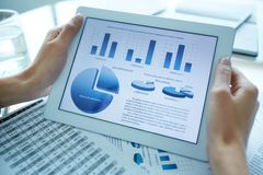 Holding electronic document Stock Photos