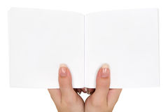 Holding an Empty Book Royalty Free Stock Image
