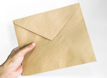Holding an envelope Stock Photo