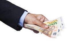 Holding Euro Banknotes Royalty Free Stock Photo