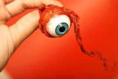 Holding an Eyeball. A person holds an eyeball in their hand Stock Photography
