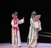 "Holding a fan in the way of a shy face-Kunqu Opera ""the West Chamber"" Royalty Free Stock Images"