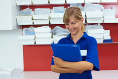 Holding files Stock Photos