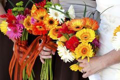 Holding flower bouquet Stock Photography