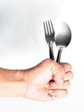 Holding a fork Stock Photos