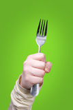 Holding Fork Royalty Free Stock Photography
