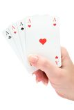 Holding Four Aces Royalty Free Stock Image