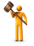 Holding Gavel Stock Photography