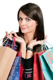 Holding gift bags Stock Photography