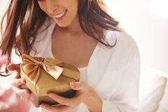 Holding gift Stock Photos