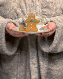Holding Gingerbread Biscuits Stock Photos