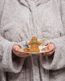 Holding Gingerbread Royalty Free Stock Image