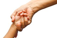 Holding girl's hand Royalty Free Stock Photos